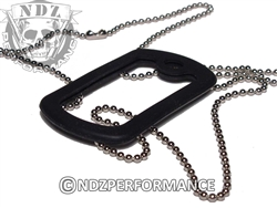 "NDZ 24"" Chain And Silencer for Dog Tags"