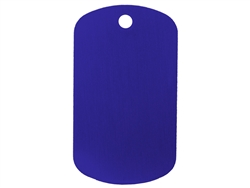 "NDZ Blue Dog Tag Kit With 24"" Chain & Silencer (*LZ)"