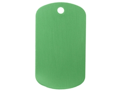 "NDZ Green Dog Tag Kit With 24"" Chain & Silencer (*LZ)"