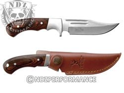 "Elkridge 9.5"" Knife With Wood Handle And Grooves On Blade ER052 (*LZ)"