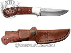 "Elkridge 3"" Drop-Point Fixed Blade Knife Full Tang Wood Handle ER286WD (*LZ)"