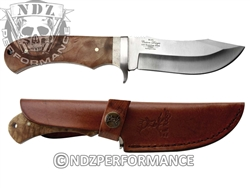 Elkridge Drop-Point With Spine Ridges Fixed Blade Knife ER291BW (*LZ)