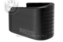 NDZ Black Plus Two Magazine Plate Extension for Glock 43 (*LZ)