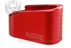 NDZ Red Plus Two Magazine Plate Extension for Glock 43 (*LZ)
