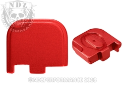 NDZ Red Rear Plate for Glock 43 (*LZ)