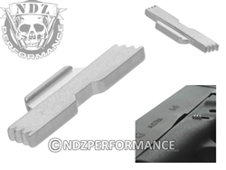 NDZ Silver Extended Slide Lock Lever for Glock 43