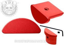 NDZ Red Grip Plug for Glock 43 (*LZ)