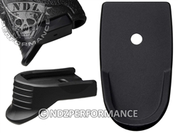 NDZ Black Magazine Plate Finger Extension Textured for Smith & Wesson Shield 9MM (*LZ)