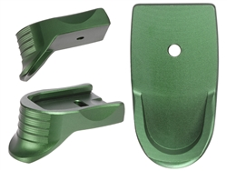 NDZ Green Magazine Plate Finger Extension Textured for Smith & Wesson Shield 9MM .40 (*LZ)