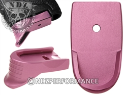 NDZ Pink Magazine Base Plate Finger Extension Textured for Smith & Wesson Shield 9MM .40 (*LZ)