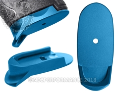 NDZ Blue Magazine Plate Finger Extension Long for Smith & Wesson Shield 9MM .40 (*LZ)