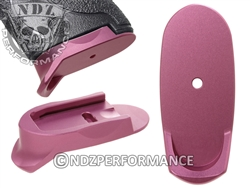 NDZ Pink Magazine Plate Finger Extension Long for Smith & Wesson Shield 9MM .40 (*LZ)