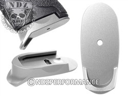 NDZ Silver Magazine Plate Finger Extension Long for Smith & Wesson Shield 9MM .40 (*LZ)