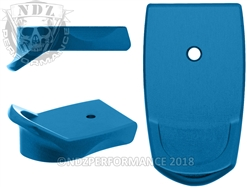NDZ Blue Magazine Plate Finger Extension for Smith & Wesson Shield 9MM .40 (*LZ)