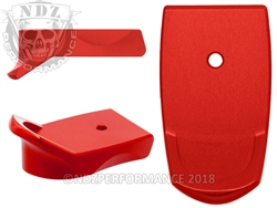 NDZ Red Magazine Plate Finger Extension for Smith & Wesson Shield 9MM .40 (*LZ)