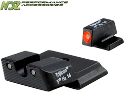Trijicon Orange 3 Dot HD Night Sight Set for Smith & Wesson M&P Shield