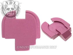 NDZ Performance Springfield Armory XDS Billet Aluminum Rear Slide Cover Plate Pink