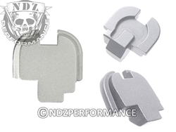 NDZ Performance Springfield Armory XDS Billet Aluminum Rear Slide Cover Plate Silver