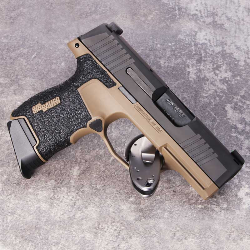 p365 FDE Stippled Grip Module