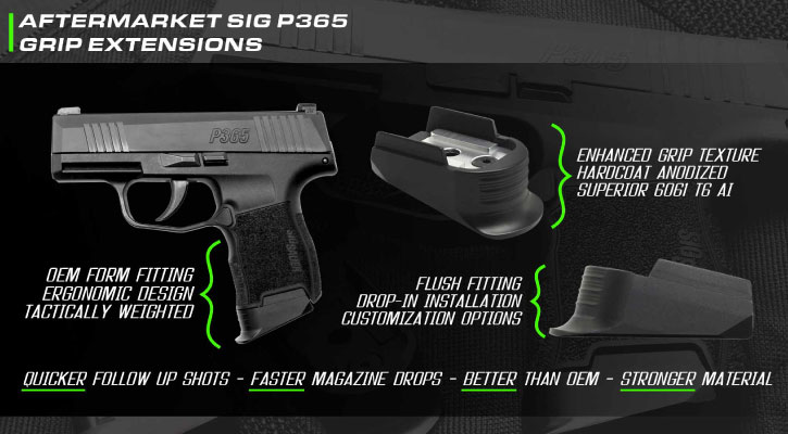Sig Sauer Aftermarket Accessories And Finger Extensions by NDZ Performance