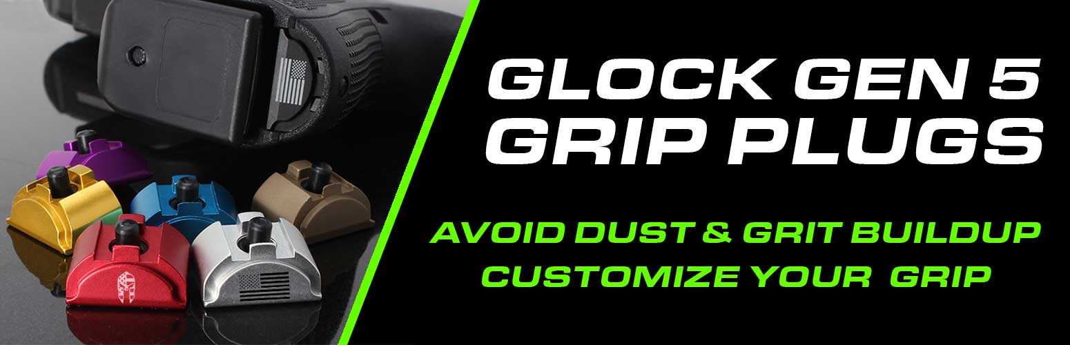 Glock Grip Plugs & Custom Glock Grip Plugs - Gen 5