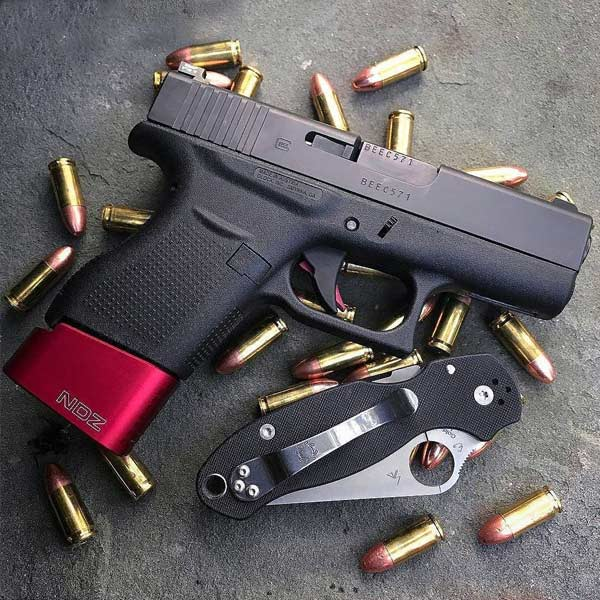 plus 2 magazine extensions for the Glock 43 by NDZ Performance