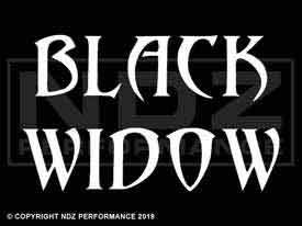 083 - Black Widow Text 2 Line