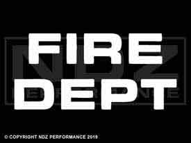 152 - Fire Dept Text