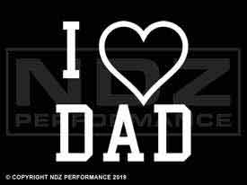 1596 - Fathers Day I Heart Dad 2L