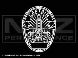 1957 - LAPD Badge Captain