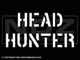 218 - Head Hunter Stencil 2 Line