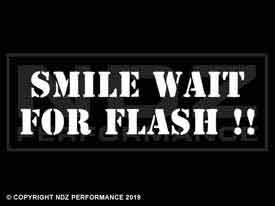 433 - Smile Wait for Flash 2 Line Stencil