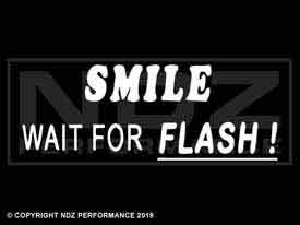 434 - Smile Wait for Flash 2 Line Underline