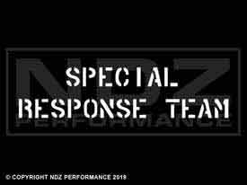 465 - Special Response Team Stencil Text