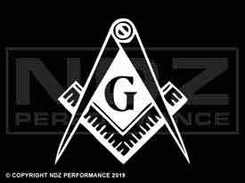 625 - Masonic Mason Calipers G Logo