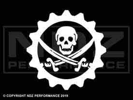 636 - Skull Jolly Roger Gear