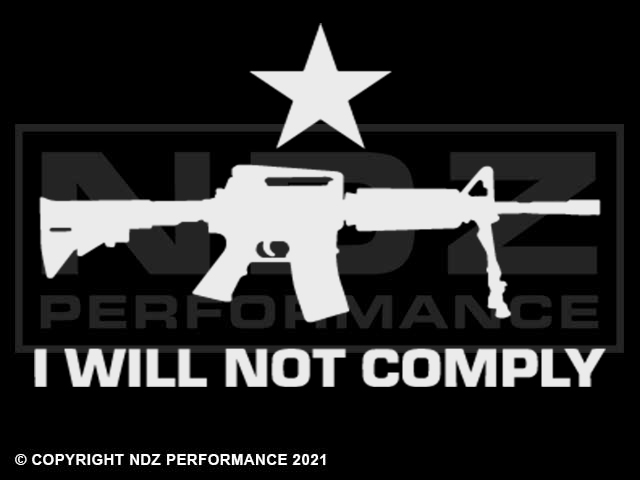 2084 - AR-15, I Will Not Comply with Star
