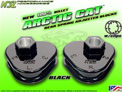 NDZ Black Rear Adjuster Block 3 Position for Arctic Cat