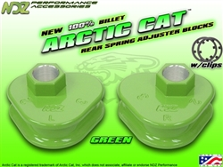 NDZ Green Rear Adjuster Block 3 Position for Arctic Cat