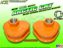 NDZ Orange Rear Adjuster Block 3 Position for Arctic Cat
