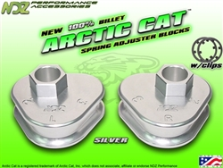 NDZ Silver Rear Adjuster Block 3 Position for Arctic Cat