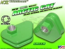 NDZ Green Rear Adjuster Block 4 Position for Arctic Cat