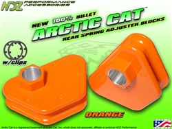 NDZ Performance Arctic Cat Orange Rear 4-Position Spring Adjuster Kit