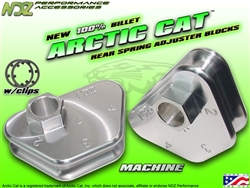 NDZ Silver Rear Adjuster Block 4 Position for Arctic Cat