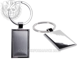 NDZ Chrome and Brushed Metal Key Chain
