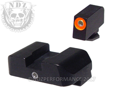 AmeriGlo 1-Dot Glock Gen 1-5 Orange & Green Sight Set