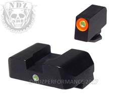 AmeriGlo 1-Dot Front Sight Orange and Green for Glock Gen 1-4