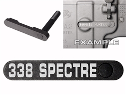 NDZ AR-15 SW 15-22 Black Magazine Catch 338 SPECTRE