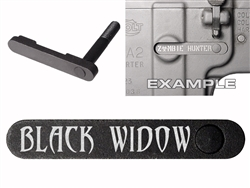 NDZ AR-15 SW 15-22 Black Magazine Catch Black Widow