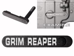 NDZ AR-15 SW 15-22 Black Magazine Catch Grim Reaper